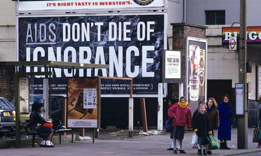 AIDS HEALTH WARNING CAMPAIGN, BRITAIN  - 1987