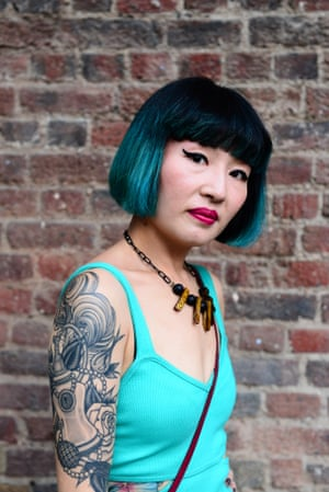 Alison Tang poses at the London Tattoo convention at Tobacco Dock