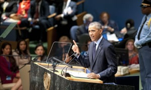 United States president Barack Obama at the UN climate summit