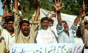 Christians protest in Karachi
