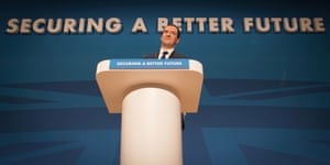 """George Osborne told the Conservative party conference: """"We must choose the future."""""""