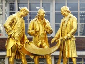 Birmingham's Golden Boys statue