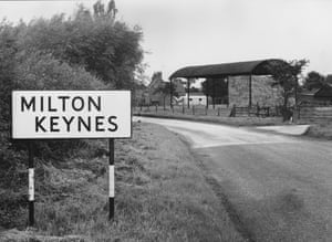 The entrance to the tiny village of Milton Keynes in Buckinghamshire in 1968, before it was developed into Britain's first new town.