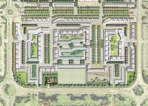 Plans for the development of Milton Keynes