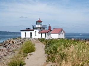 West Point lighthouse in Discovery park.