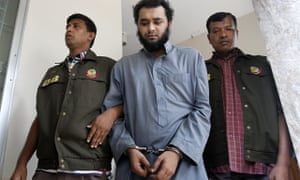 Samiun Rahman (centre) was arrested on suspicion of recruiting for Islamic State and Jabhat al-Nusra