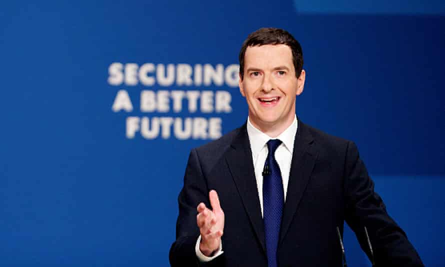 George Osborne smiling at the party conference