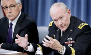 Joint Chiefs of Staff Chairman General Martin Dempsey, right, and Secretary of Defense Chuck Hagel.