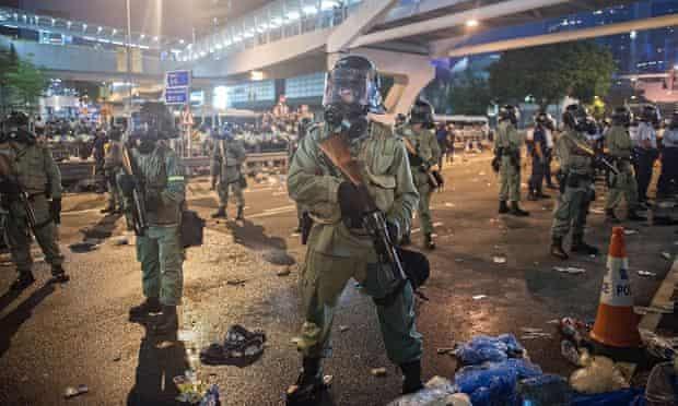 Riot police in Hong Kong
