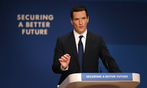 George Osborne addresses the Conservative party conference in Birmingham