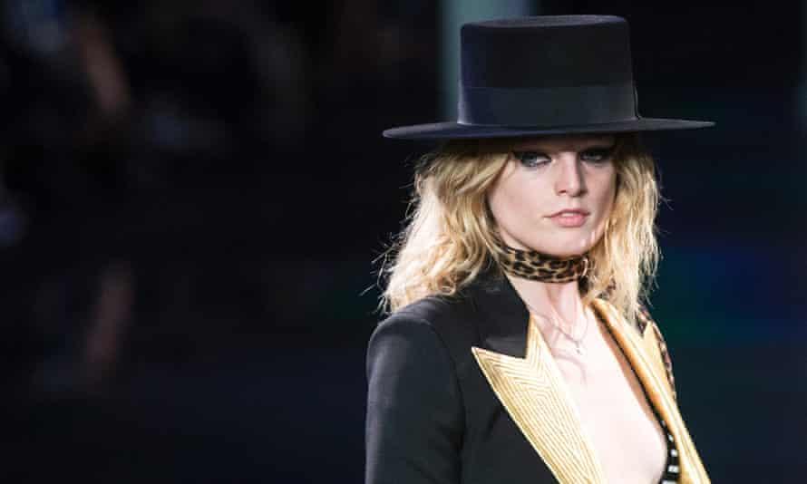 Slimane YSL show, Paris fashion week