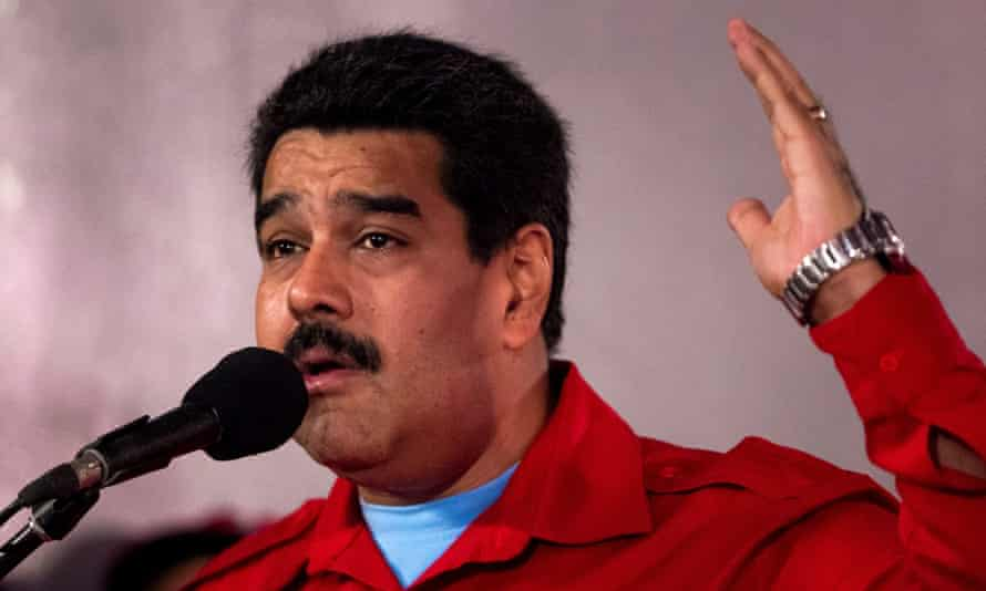 Nicolas Maduro speaks at the PSUV conference.