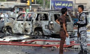 The scene of a car bomb attack in Baghdad last week.