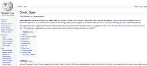 wikipedia comic sans
