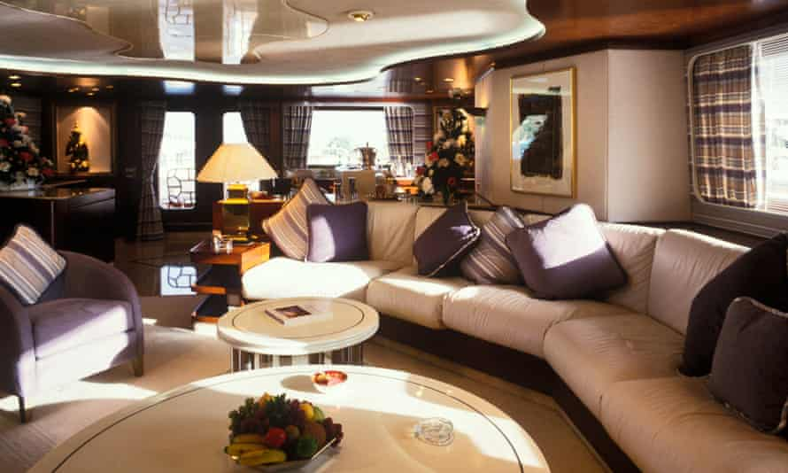 Floating palaces: the luxury interior of a superyacht.