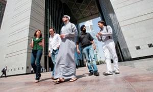 London Business School Dubai MBA students.jpgstanding just underneath the gates to the Dubai Intern