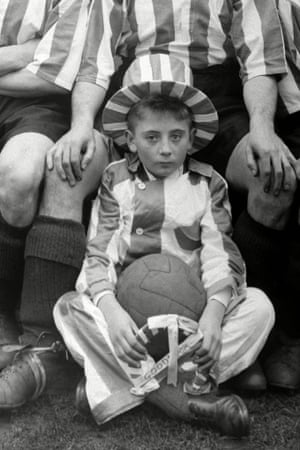 Blyth Spartans young mascot ahead of their FA Cup 1st Round replay at Stockport. It's no wonder he looks miserable having to wear that outfit.