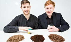 Arthur Kay (left) and Benjamin Harriman, founders of bio-bean, which uses coffee grounds to make fue