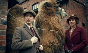 Lee Ingleby and Liz White as the Mottersheads, with their new lodger - a camel