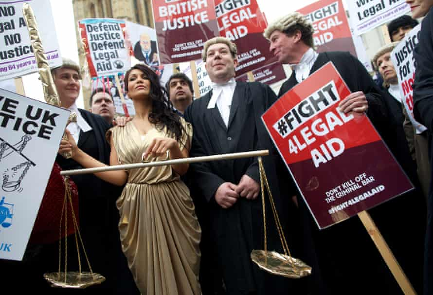 Legal aid reforms have seen barristers walkout for the first time in history
