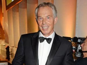 Tony Blair at the GQ men of the year awards.