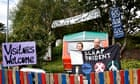 """""""Jamie Watson and Jodie, activists at the Faslane peace camp, outside the Trident naval base"""""""