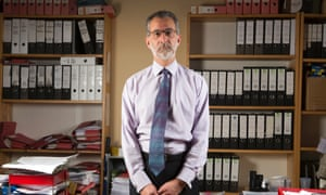 Imran Khan, the lawyer who represented Doreen Lawrence, photographed in his offices in Holborn, London.