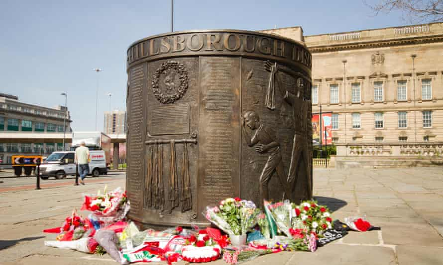 The Hillsborough Monument in Liverpool, built to mark the memory of the 96 fans killed in the 1989 Hillsborough Disaster.