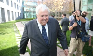 PUP leader Clive Palmer held a press conference minutes before the senate began to debate an inquiry into the Queensland government.