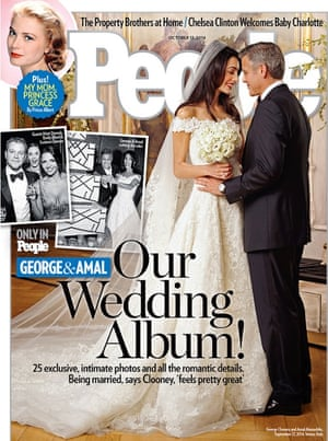 People magazine cover of the wedding of Amal Alamuddin and George Clooney