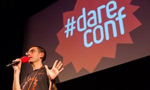 #dareconf organiser Jonathan Kahn introducing the event.