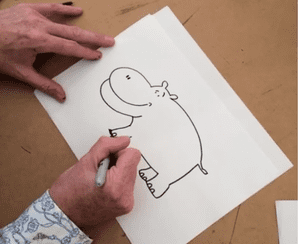 hippo doodle