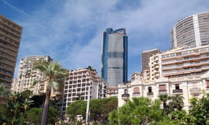 the Odeon tower (centre) in Monaco, currently under construction.