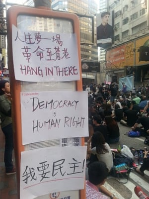 messages supporting protestors in hong kong
