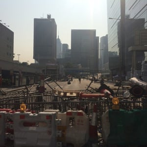 main barricade into admiralty this morning