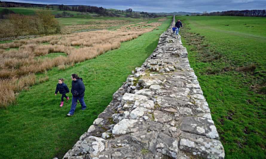 Walks on and near Hadrian's Wall at Birdoswald, Cumbria