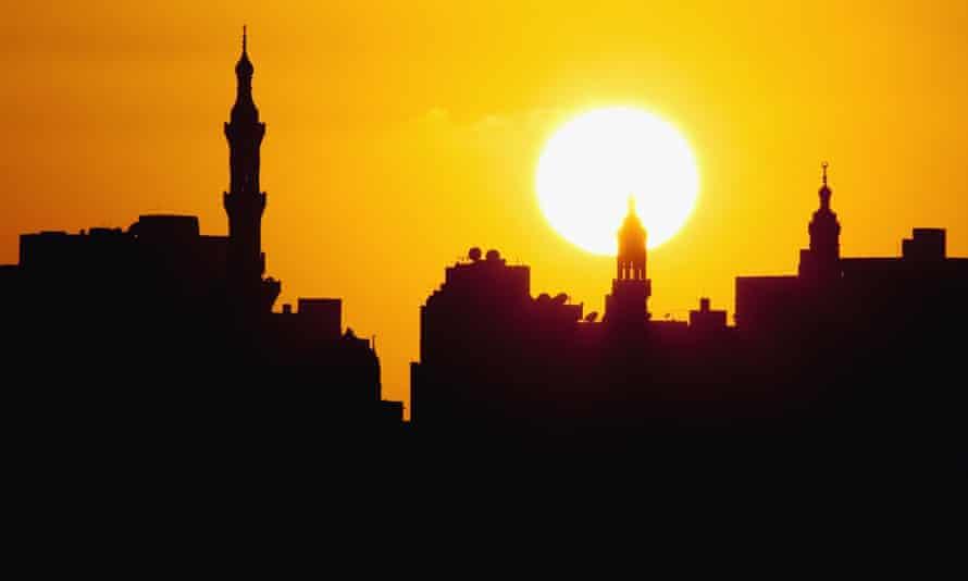 Sunset over Alexandria