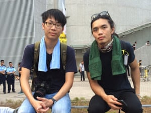 Lee Hokfun, left, and Chan Chunyin are students who are taking part in the pro-democracy protests.