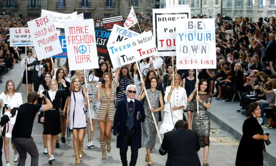 Karl Lagerfeld's Chanel catwalk show in Paris