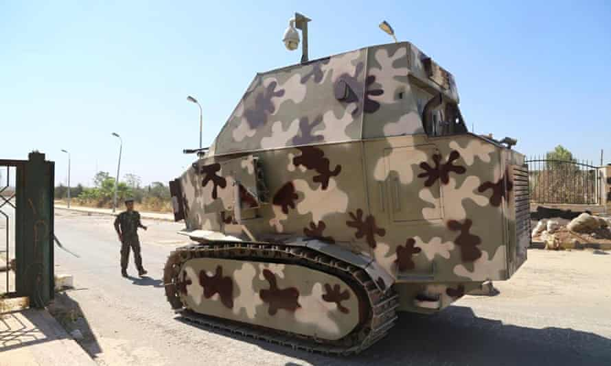 Kurdish forces have converted tractors and lorries into fighting vehicles.
