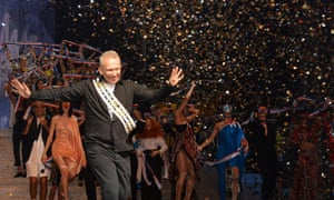 Take a bow ... Jean Paul Gaultier's final ready-to-wear show.