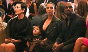 Kimye ... Front row at the Givenchy show.