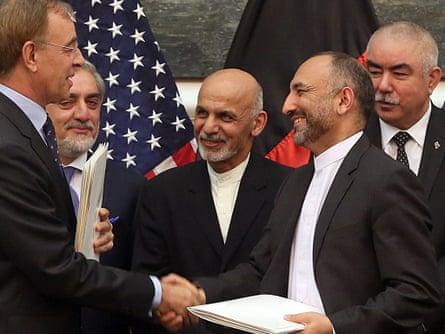 US-Afghan security deal.