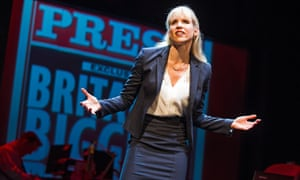Lucy Punch in Great Britain by Richard Bean at the Theatre Royal Haymarket in London
