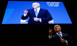 Iain Duncan Smith addressing the Conservative party conference