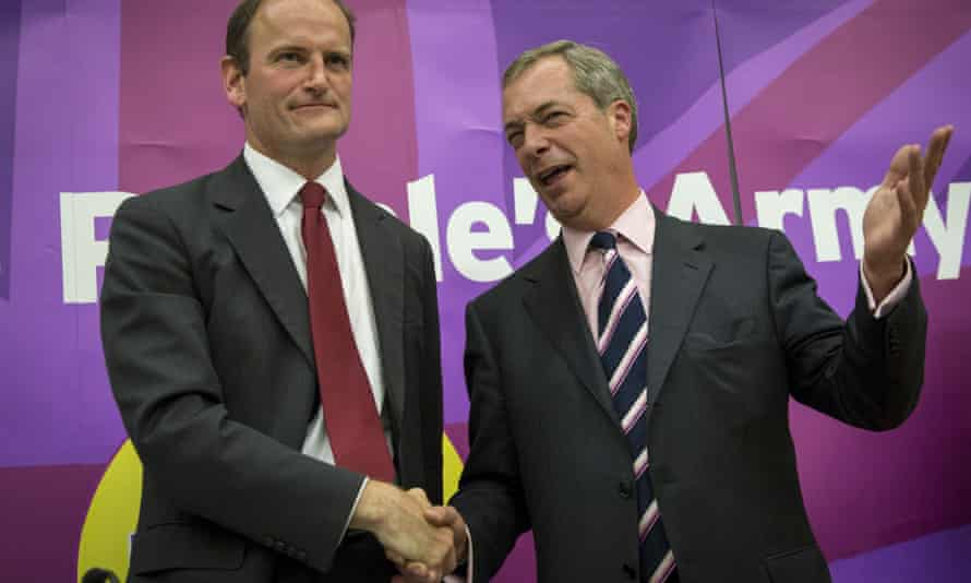 Tory defector Douglas Carswell (left) with Ukip leader Nigel Farage