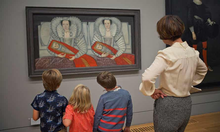 Zoe Williams and her children Thurston and Harper with friend Peter visit Tate Britain.