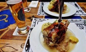 German roasted pork knuckle