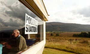 Coulags caravan polling station, in the Scottish Highlands.