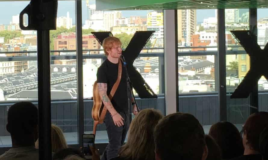 Ed Sheeran: 'This album was streamed 26m times in the first week on Spotify'.